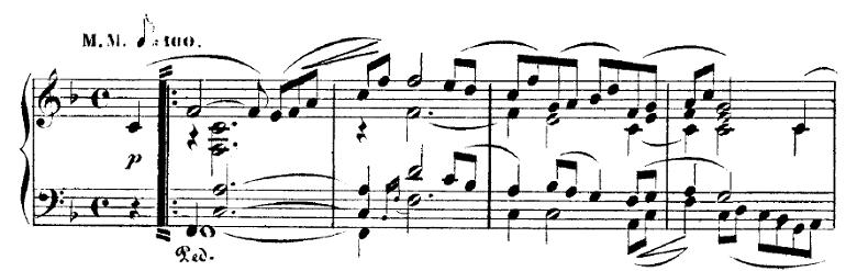 シューマン「トロイメライ」ヘ長調Op.15-7ピアノ楽譜2
