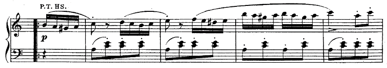モーツァルト「ピアノソナタ第11番イ長調K.331第3楽章「トルコ行進曲」」ピアノ楽譜5