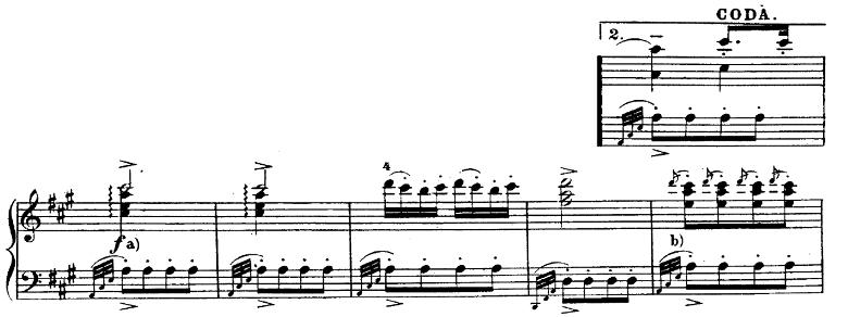 モーツァルト「ピアノソナタ第11番イ長調K.331第3楽章「トルコ行進曲」」ピアノ楽譜7