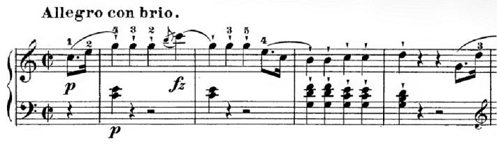 ハイドン「ピアノソナタ第35番ハ長調Hob.XVI:35,Op.30-1第1楽章」ピアノ楽譜1