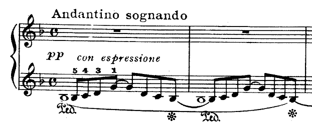 ドビュッシー「『夢(夢想)』ヘ長調L.68」ピアノ楽譜1
