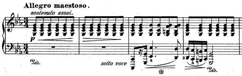 ショパン『ポロネーズ第4番ハ短調』ピアノ楽譜1