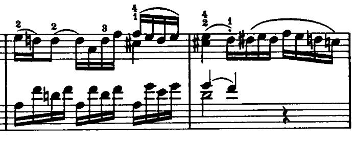 モーツァルト「ピアノソナタ第15(16)番ハ長調K.545第2楽章」ピアノ楽譜4