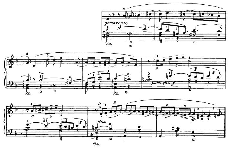 チャイコフスキー「四季10月『秋の歌』ニ短調」ピアノ楽譜1