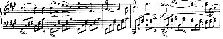 メンデルスゾーン「「ヴェネツィアの舟歌」嬰ヘ短調Op.30-6」ピアノ楽譜2