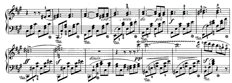メンデルスゾーン「「ヴェネツィアの舟歌」嬰ヘ短調Op.30-6」ピアノ楽譜3