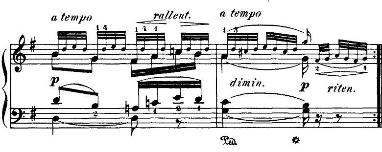 ブルグミュラー「18の練習曲第5番「泉」ト長調Op.109-5」ピアノ楽譜2