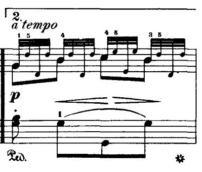 ブルグミュラー「18の練習曲第5番「泉」ト長調Op.109-5」ピアノ楽譜5
