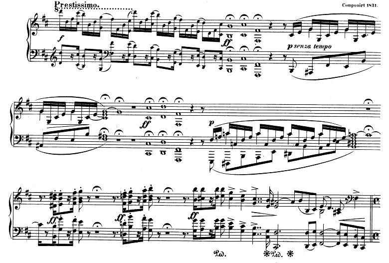 シューマン「アレグロ」Op.8ピアノ楽譜1