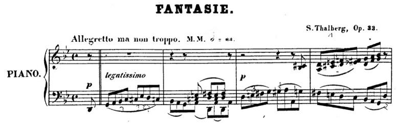 タールベルク「ロッシーニの歌劇『エジプトのモーゼ』による大幻想曲ト短調Op.33」序奏のピアノ楽譜