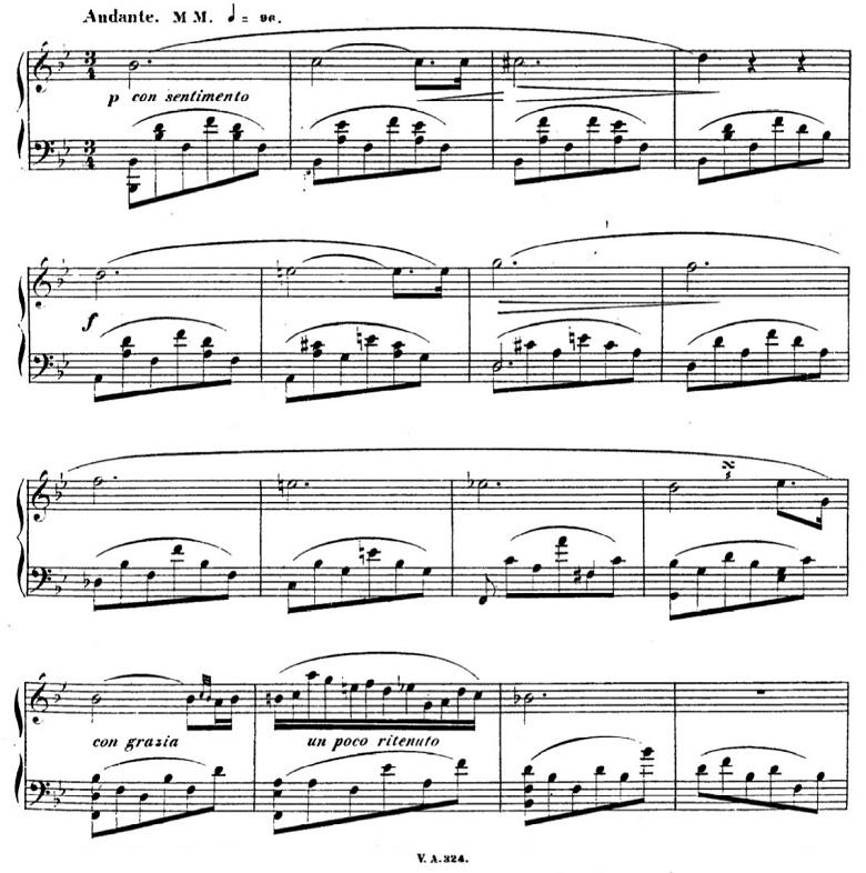 タールベルク「ロッシーニの歌劇『エジプトのモーゼ』による大幻想曲ト短調Op.33」シンプルなメロディーのピアノ楽譜
