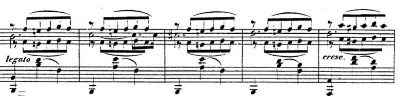 タールベルク「ロッシーニの歌劇『エジプトのモーゼ』による大幻想曲ト短調Op.33」付点2分音符がメロディーのピアノ楽譜