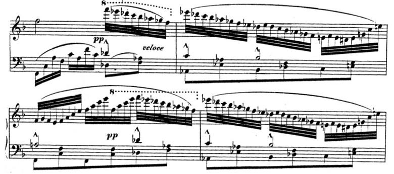 タールベルク「ロッシーニの歌劇『エジプトのモーゼ』による大幻想曲ト短調Op.33」装飾パッセージのピアノ楽譜