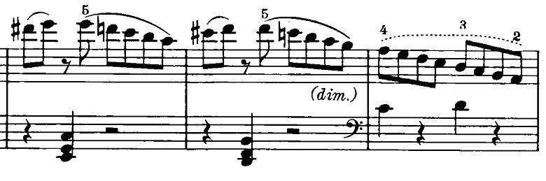 ベートーヴェン「ピアノソナタ第20番ト長調Op.49-2第1楽章」ピアノ楽譜2