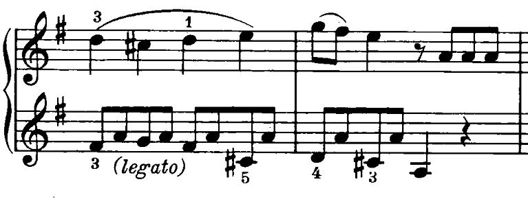 ベートーヴェン「ピアノソナタ第20番ト長調Op.49-2第1楽章」ピアノ楽譜4