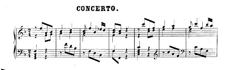 バッハ「クラヴィーア練習曲集第2巻「イタリア協奏曲」ヘ長調BWV971第1楽章」ピアノ楽譜1