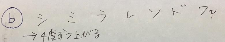 調号がつく順番・♭系1