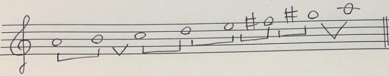 旋律的短音階の楽譜