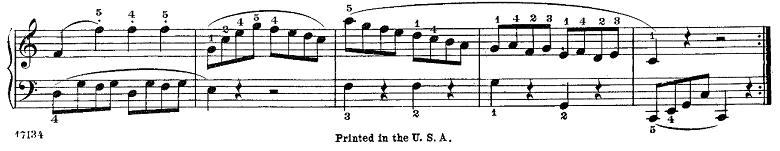 長調と短調の見分け方:クレメンティー「ソナチネOp.36,No.1」ピアノ楽譜2