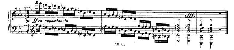 長調と短調の見分け方:ショパン「革命のエチュード」ピアノ楽譜2