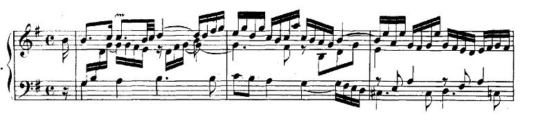 バッハ「フランス組曲第5番ト長調BWV816「アルマンド」」ピアノ楽譜