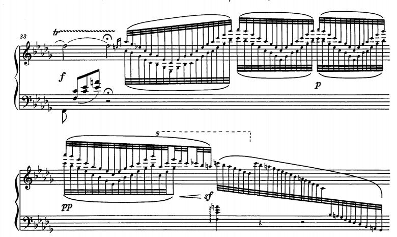 グリンカ歌曲集「サンクトペテルブルクとの別れ」第10曲「ひばり」ホ短調/ピアノ編曲:バラキレフ 変ロ短調 ピアノ楽譜5