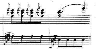 モーツァルト「ピアノソナタ第11番イ長調K.331第3楽章「トルコ行進曲」」ピアノ楽譜4