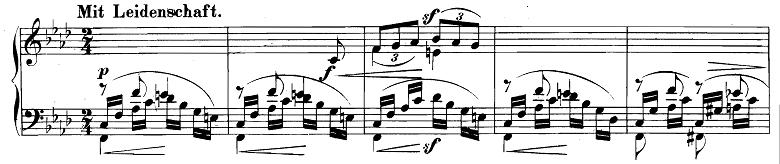 シューマン「幻想小曲集op.12第5曲《夜に》」ピアノ楽譜1