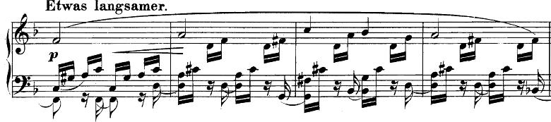 シューマン「幻想小曲集op.12第5曲《夜に》」ピアノ楽譜2