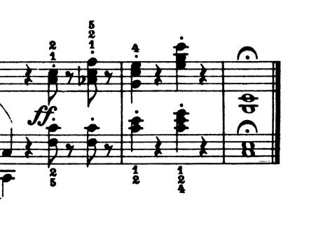 ブルグミュラー「25の練習曲第25番「貴婦人の乗馬」ハ長調Op.100-25」ピアノ楽譜2