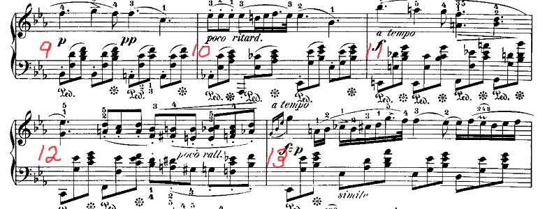 ショパン「ノクターン第2番変ホ長調Op.9-2」ピアノ楽譜2