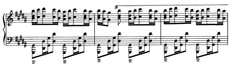 リスト「パガニーニによる大練習曲第3番「ラ・カンパネラ」嬰ト短調S.141-3」ピアノ楽譜3