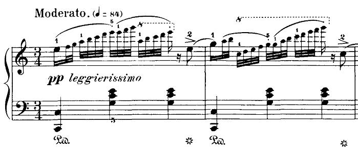 ブルグミュラー「18の練習曲第2番「真珠」ハ長調Op.109-2」ピアノ楽譜1