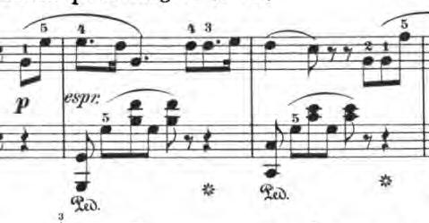ベルティーニ「24の小品集第16番「ロマンス」ハ長調Op.101-16」ピアノ楽譜1