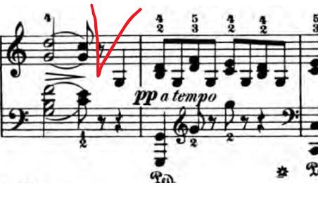 ベルティーニ「24の小品集第16番「ロマンス」ハ長調Op.101-16」ピアノ楽譜4