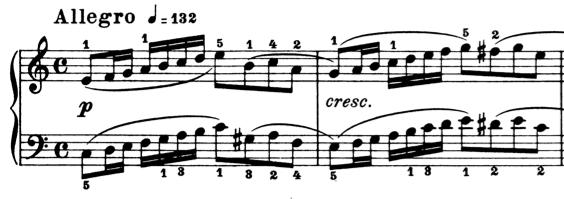 ブルグミュラー「25の練習曲第6番「進歩」ハ長調Op.100-6」ピアノ楽譜1