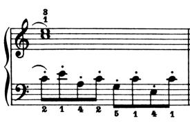 ブルグミュラー「25の練習曲第6番「進歩」ハ長調Op.100-6」ピアノ楽譜3