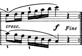 ブルグミュラー「25の練習曲第6番「進歩」ハ長調Op.100-6」ピアノ楽譜4