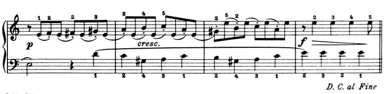 ブルグミュラー「25の練習曲第6番「進歩」ハ長調Op.100-6」ピアノ楽譜5