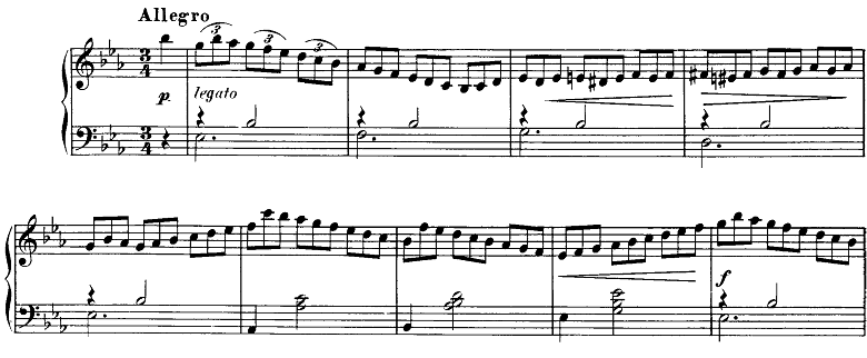 シューベルト「即興曲第2番Op.90-2」ピアノ楽譜1