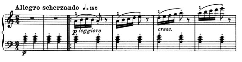 ブルグミュラー「25の練習曲第2番「アラベスク」イ短調Op.100-2」ピアノ楽譜3