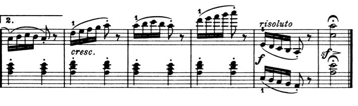 ブルグミュラー「25の練習曲第2番「アラベスク」イ短調Op.100-2」ピアノ楽譜1