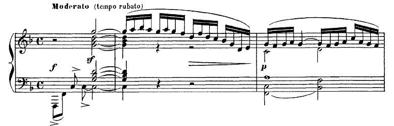 ドビュッシー「ベルガマスク組曲第1曲『前奏曲』ヘ長調L.75-1」ピアノ楽譜1
