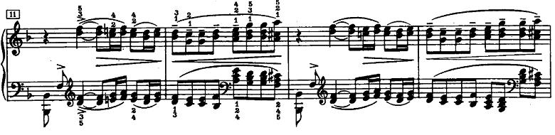 ドビュッシー「ベルガマスク組曲第1曲『前奏曲』ヘ長調L.75-1」ピアノ楽譜2