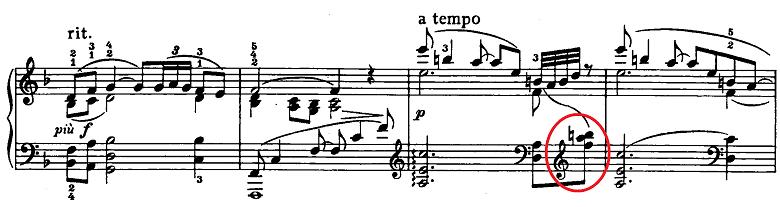 ドビュッシー「ベルガマスク組曲第1曲『前奏曲』ヘ長調L.75-1」ピアノ楽譜3