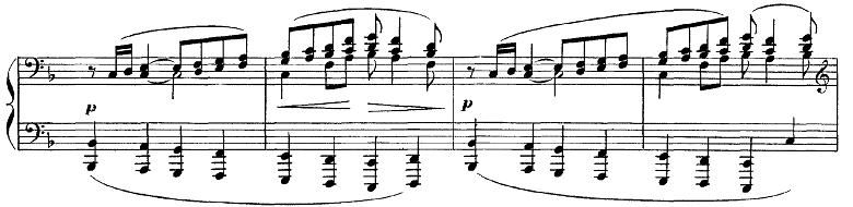 ドビュッシー「ベルガマスク組曲第1曲『前奏曲』ヘ長調L.75-1」ピアノ楽譜6
