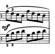 ブルグミュラー「25の練習曲第1番「素直な心」ハ長調Op.100-1」ピアノ楽譜2