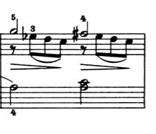 ブルグミュラー「25の練習曲第1番「素直な心」ハ長調Op.100-1」ピアノ楽譜3