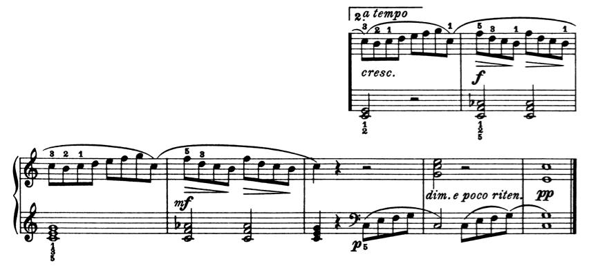 ブルグミュラー「25の練習曲第1番「素直な心」ハ長調Op.100-1」ピアノ楽譜5