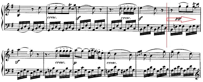ベートーヴェン「ピアノソナタ第10番ト長調Op.14-2第1楽章」ピアノ楽譜7